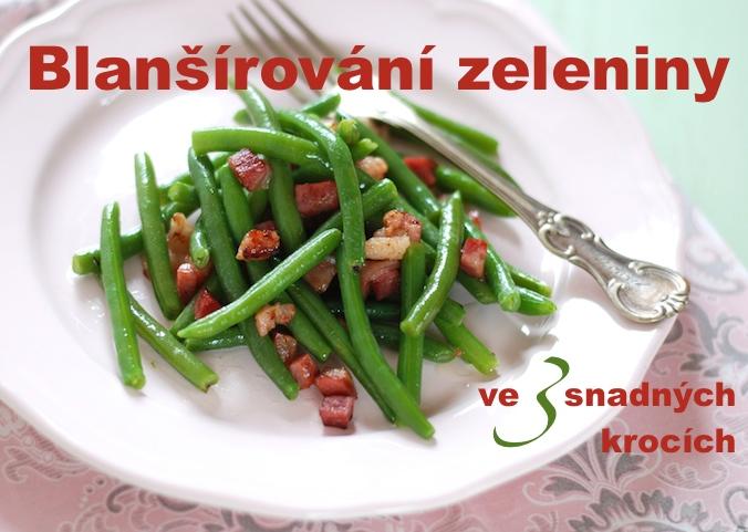 Blanšírování zeleniny