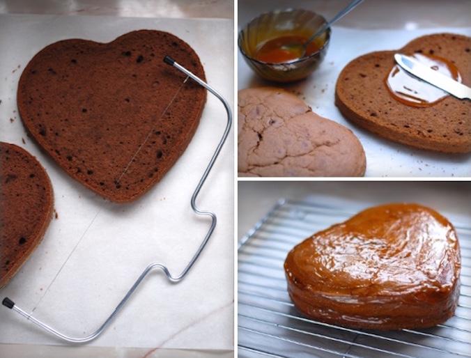 Potírání dortu zavařeninou