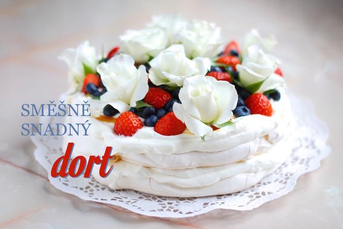 Jednoduchý dort Pavlova