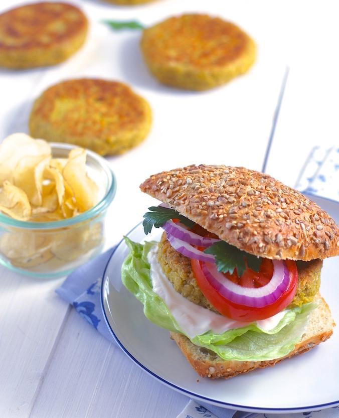burgery z červené čočky