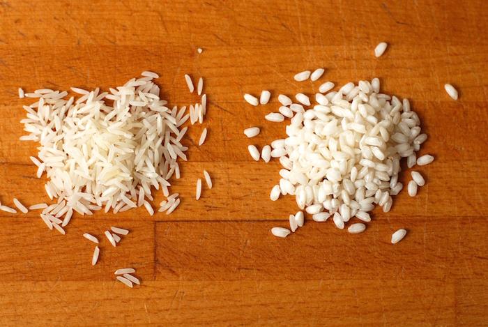 dlouhozrnná a kulatozrnná rýže