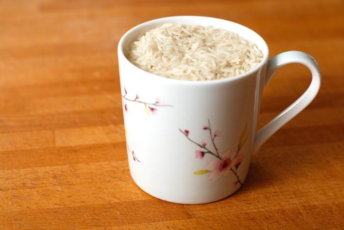 měření rýže
