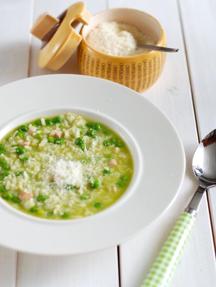 rýže a hrášek italské rizoto