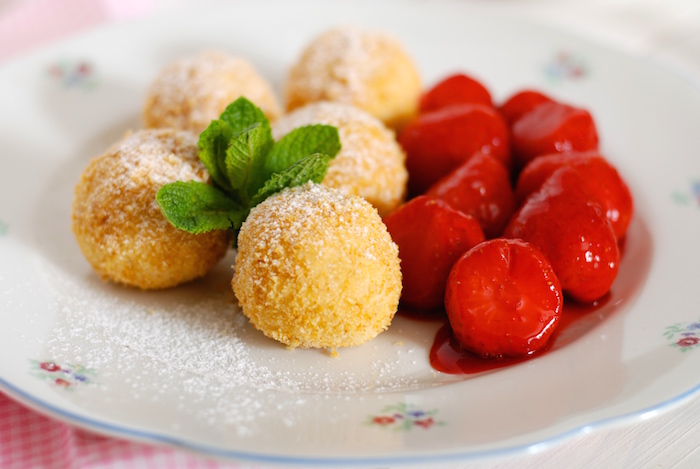 Tvarohové knedlíky s ovocem