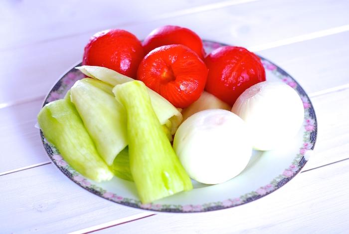 oloupaná zelenina