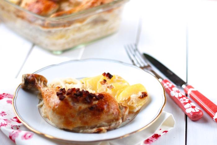 Kuře zelí brambory