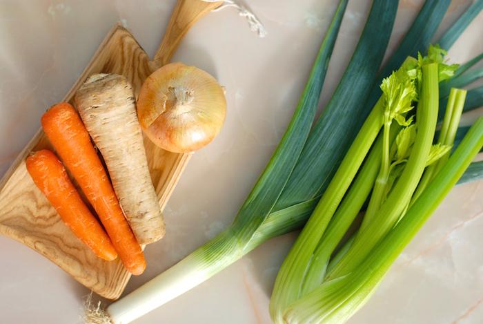 zelenina do vývaru