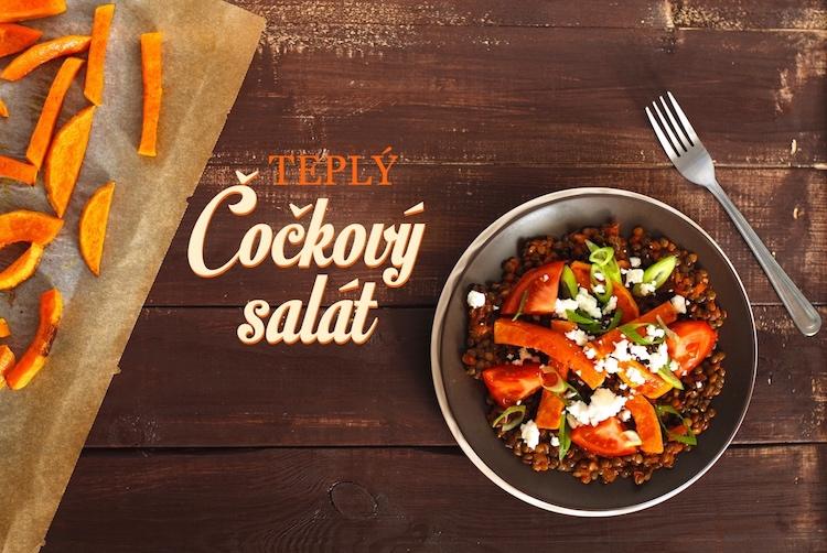 teplý čočkový salát