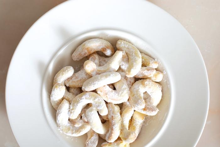 vanilkové rohlíčky po obalení