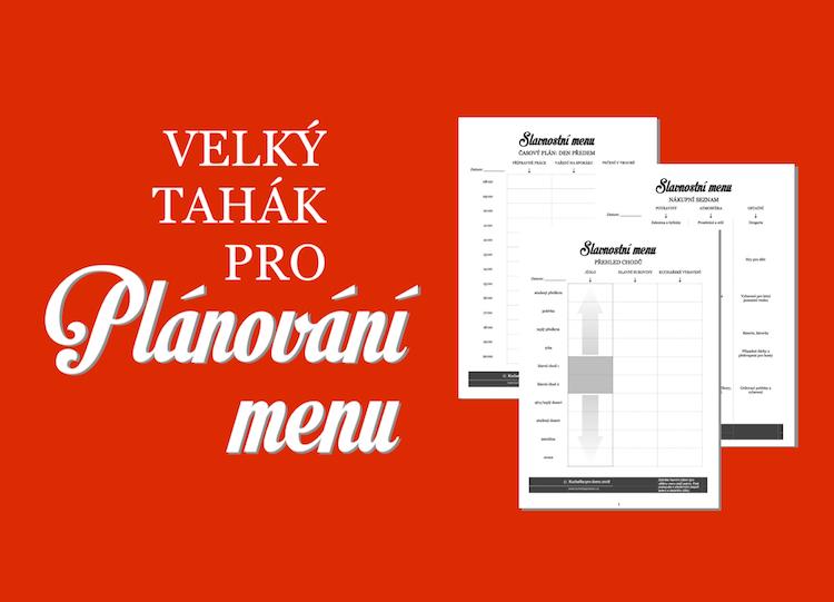 slavnostní menu plánování a příprava