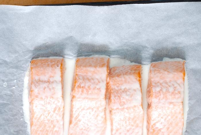 pomalu pečený losos po upečení