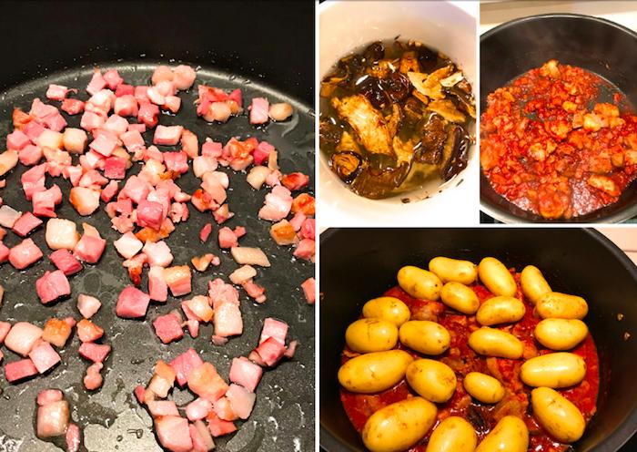 eintopf vepřové maso brambory