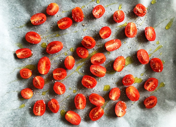 rajčata před pečením