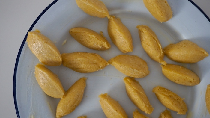 krupicové noky před vařením