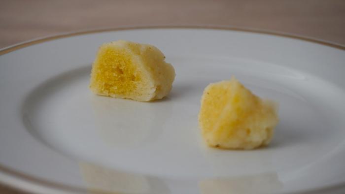 krupicové noky vnitřek po uvaření