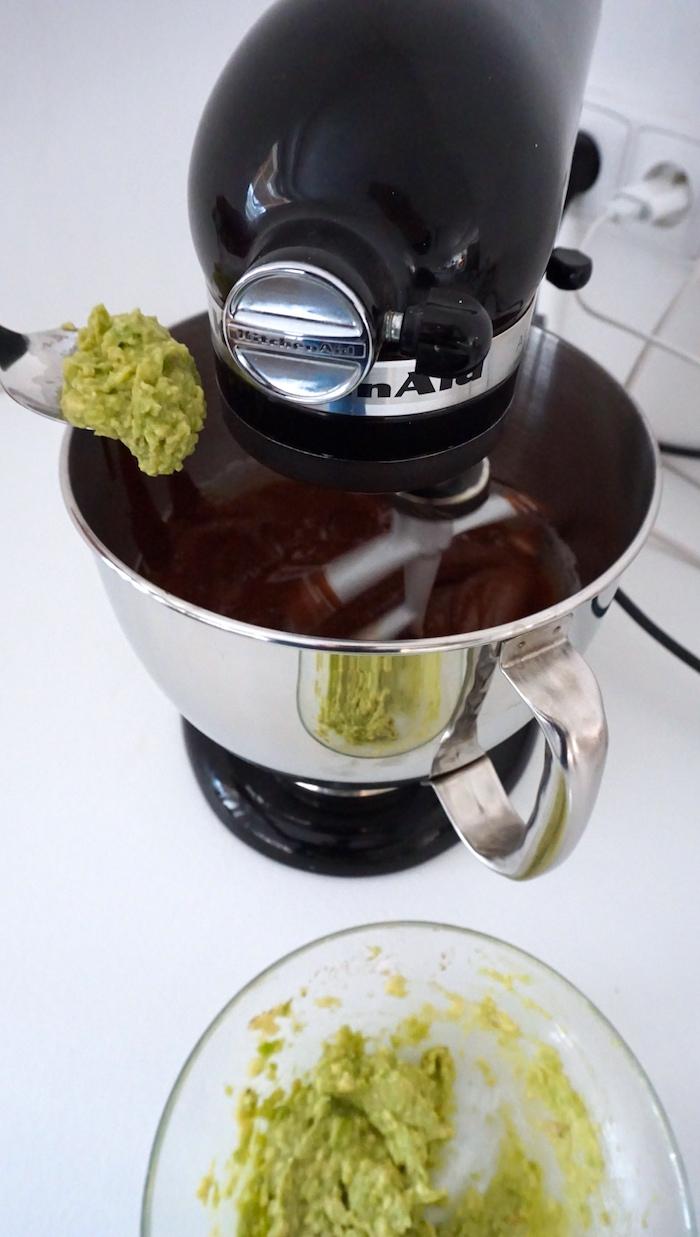 avokádové brownies příprava