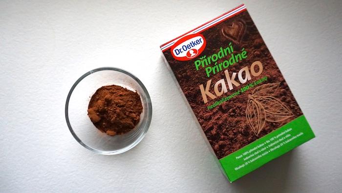 přírodní kakaový prášek