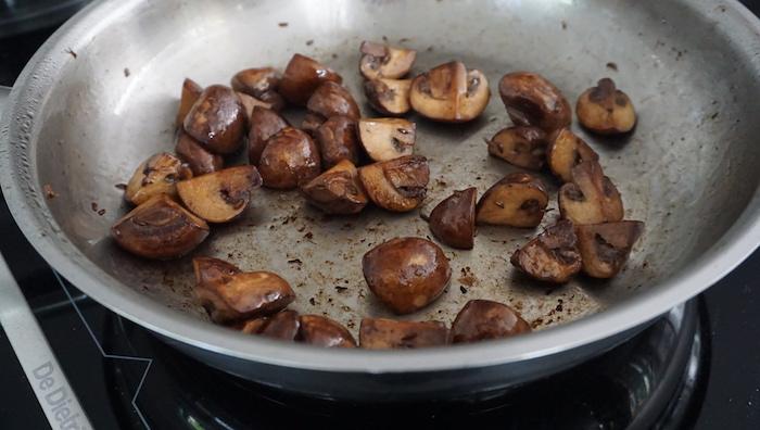 opečené houby na houbové pesto