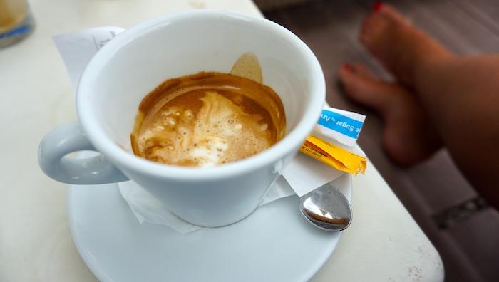 ledová káva affogato