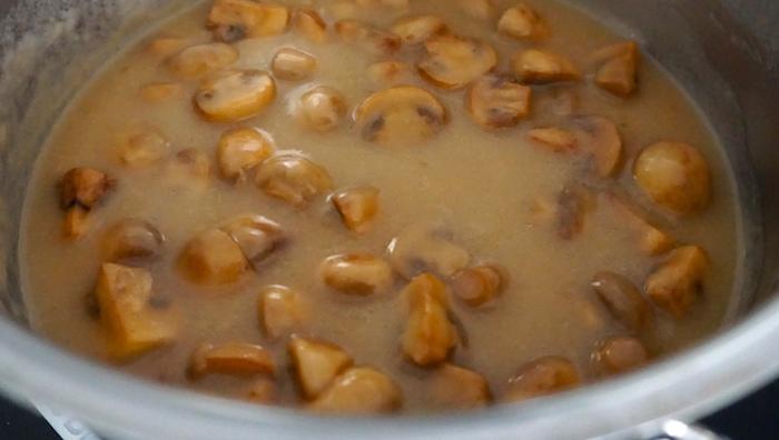 opečené houby v omáčce