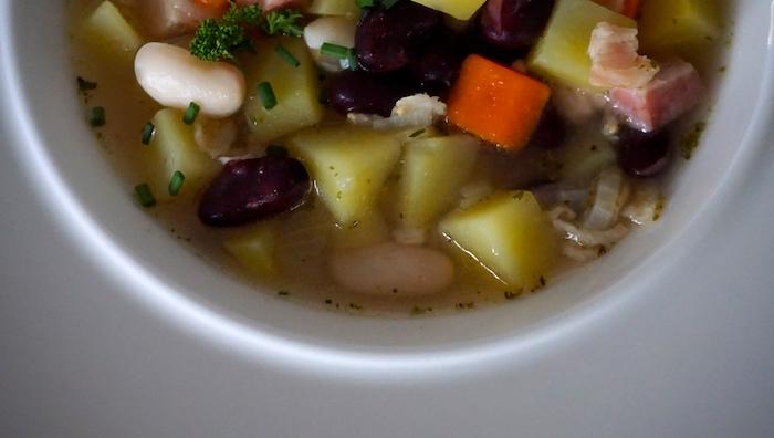 polévka s vločkami