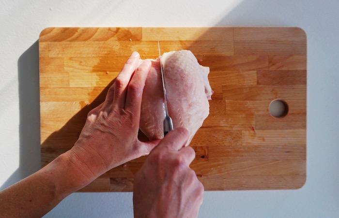 jak naporcovat kuře 6 oddělení prsou