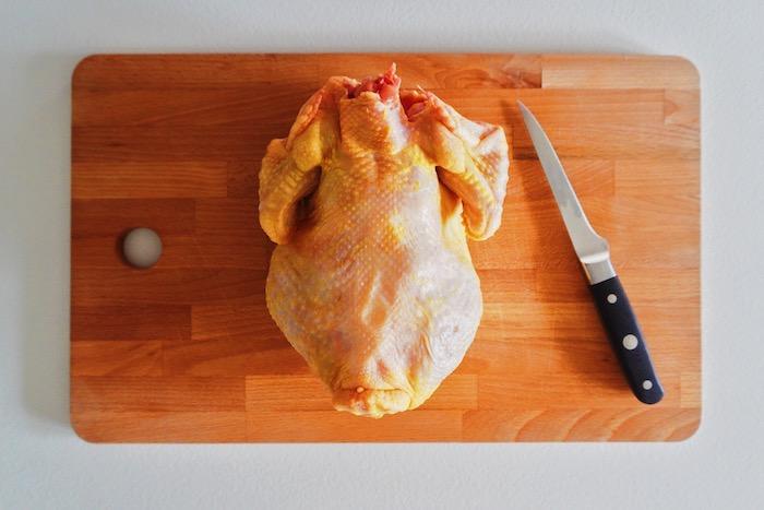 jak vykostit kuře krok za krokem páteř 1