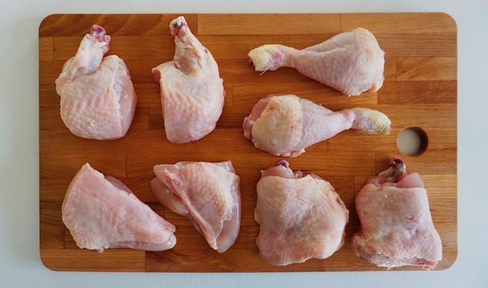 naporcované kuře