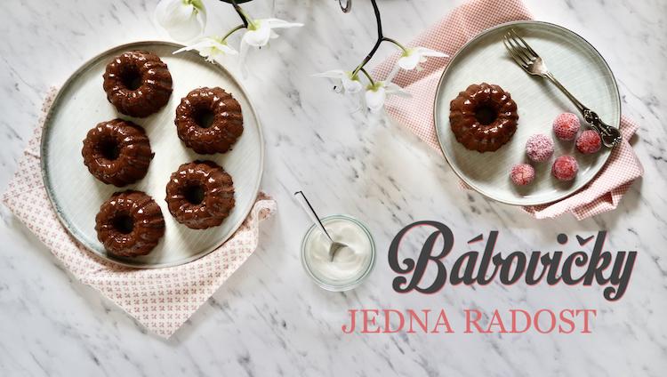 čokoládové bábovičky