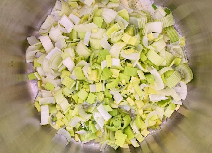 pórkový základ na zelenou polévku