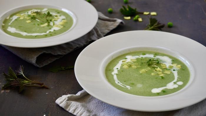 Zelená polévka z jarních bylin