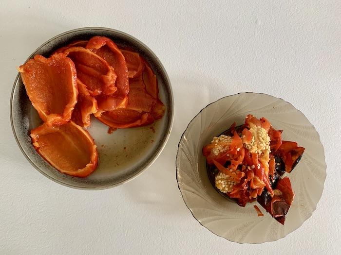 oloupané papriky