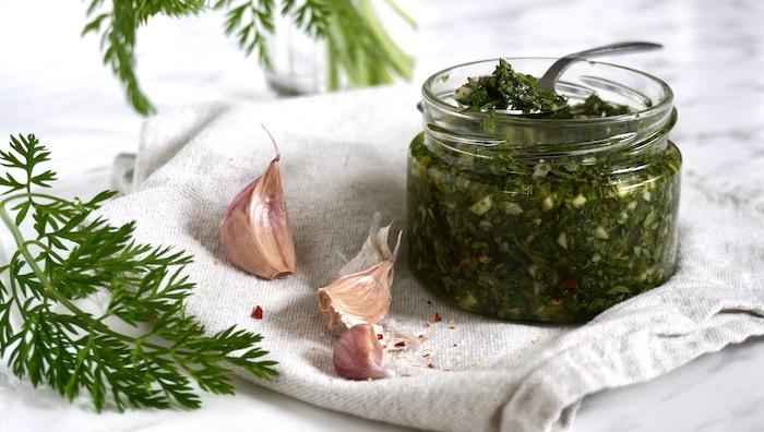mrkvové chimichurri recept