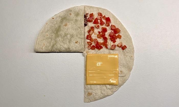 tortilla wrap krok 2