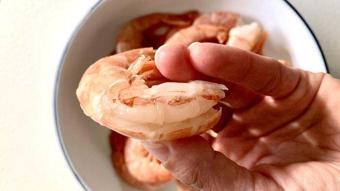 krevety bez střívka