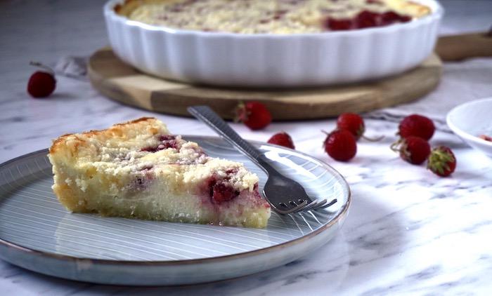 drobenkový koláč recept